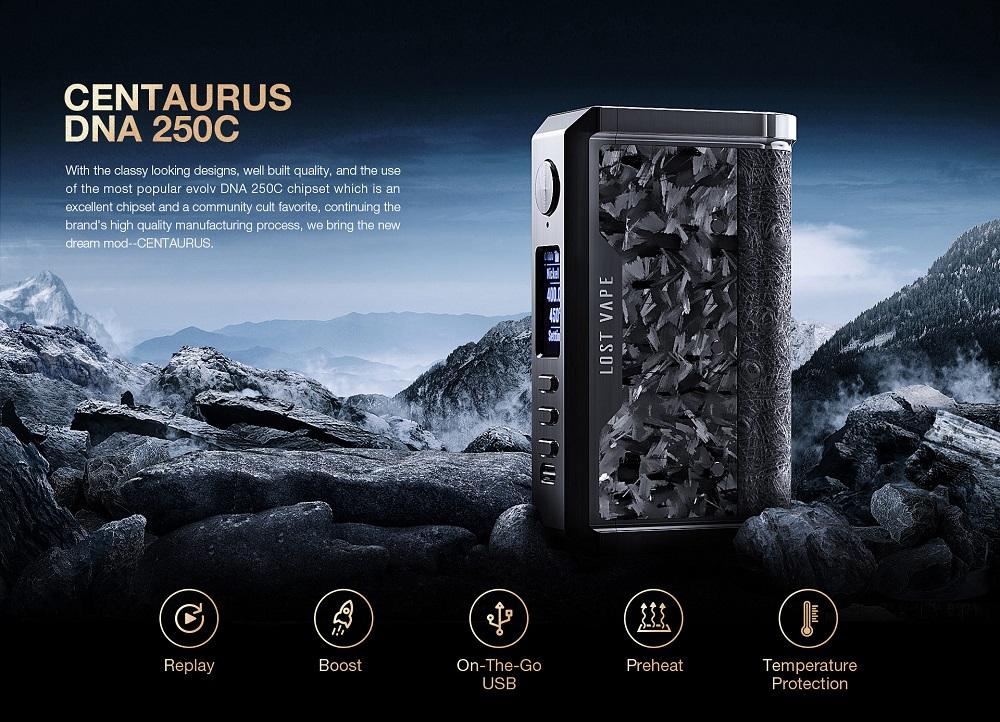 centaurus dna 250c box mod by lost vape 2